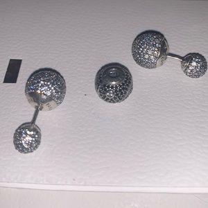 Pandora Earrings and Spacer Set